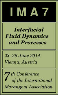 Logo 7th Conference of the International Marangoni Association, 23-26 June 2014, Vienna, Austria